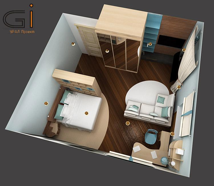 Готовый дизайн проект комнаты